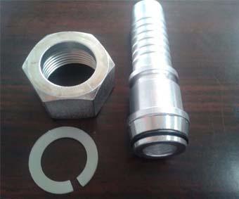 Raccordi per tubi flessibili idraulici monopezzo aggraffati bsp jic filettati metrici